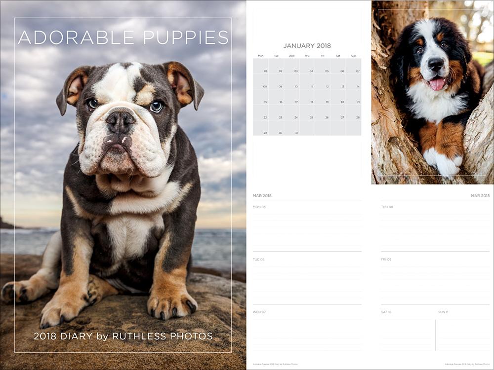 2018 cute puppy diary